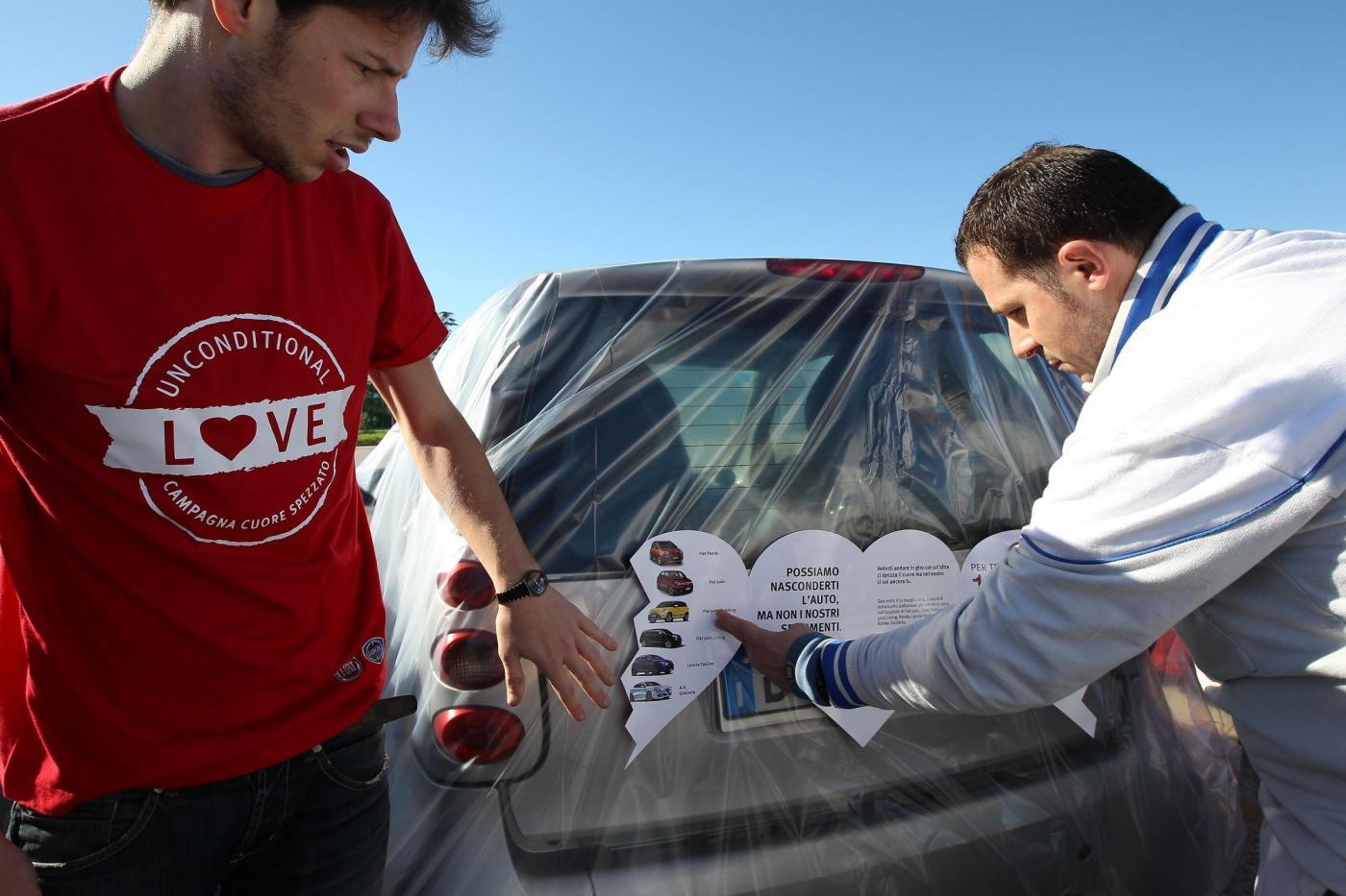 """Fiat, campagna pubblicitaria Parking Marketing: """"Mi spezzi il cuore"""""""